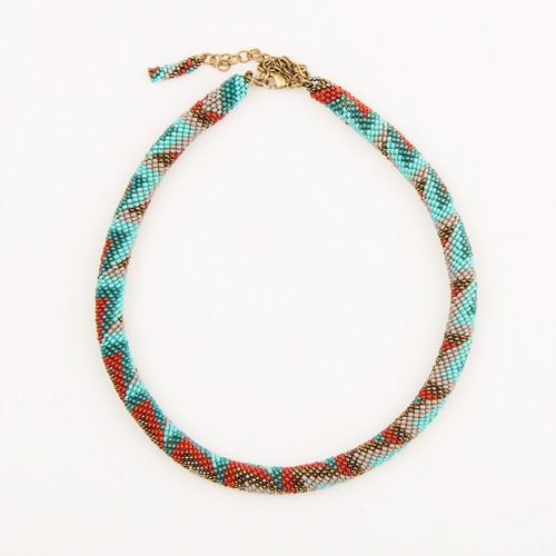 Beaded Tube Necklace