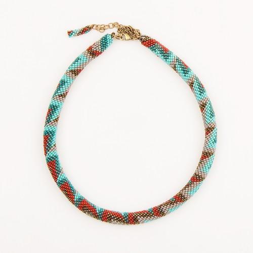 Beaded Tube Necklace