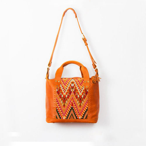 Textile & Leather Day Bag