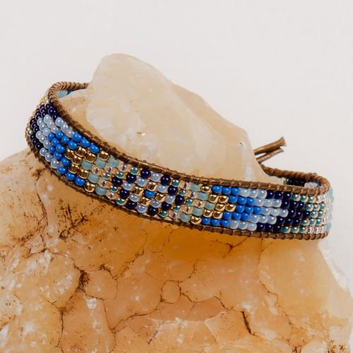 Gold & Glass Beaded Bracelet
