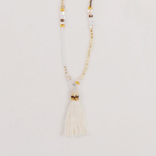 Tassel  Beaded Strand Necklace