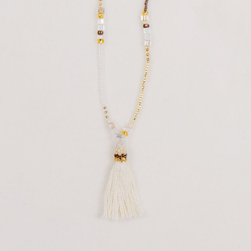 Tassel  Beaded Strand Necklace
