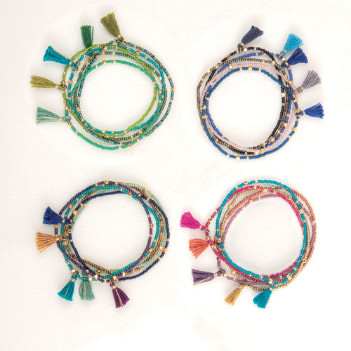 Tassel Bracelet Set of Five