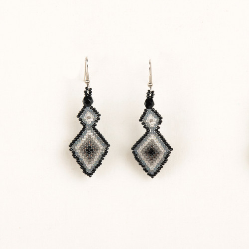 Double Diamond Beaded Earring