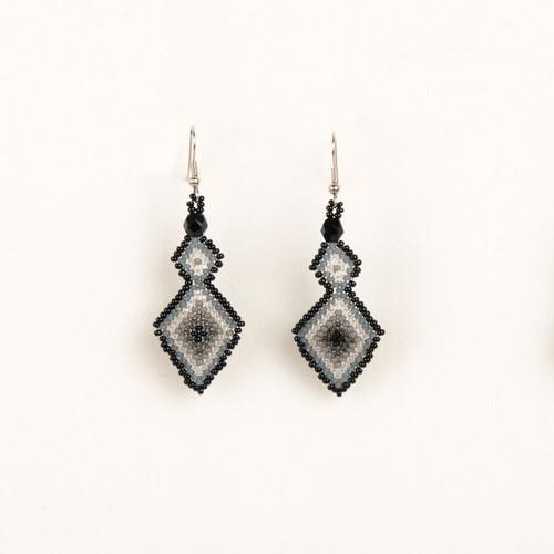 Double Diamond Beaded Earring