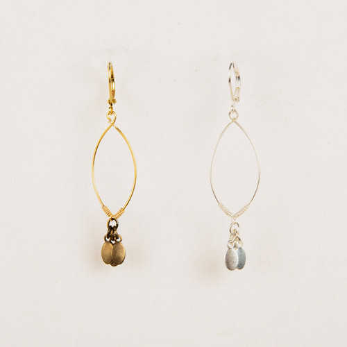 Dangle Oval Earring