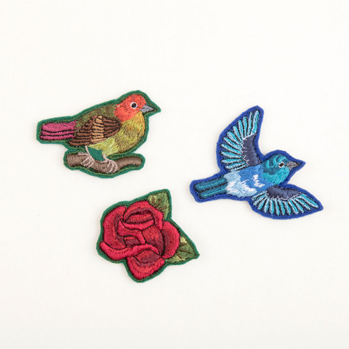 Hand Embroidered Pins