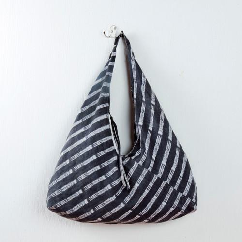Black & White Handwoven Hobo Bag