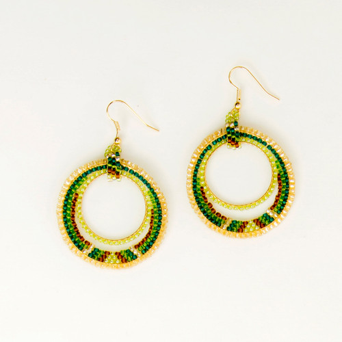 Golden Double Hoop Earring