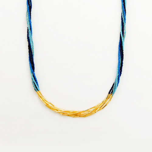 Multi Strand Bugle Necklace