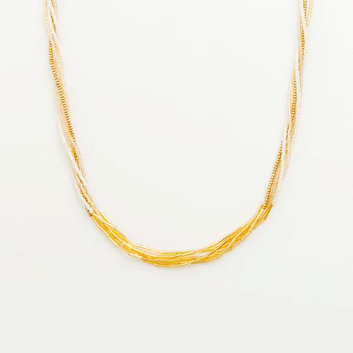 Multi Strand Bugle Necklace