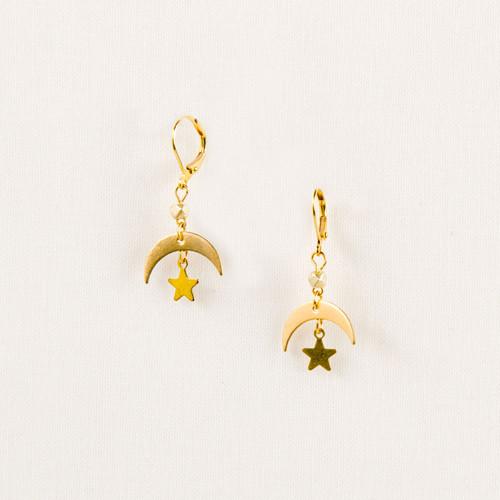 Moon & Star Earring