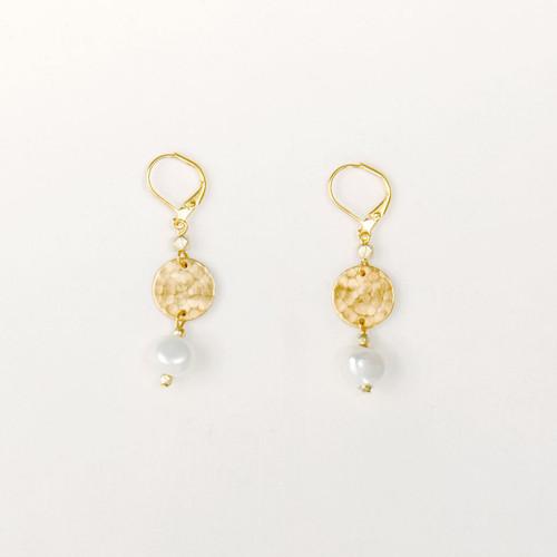 Pearl & Disc Earring