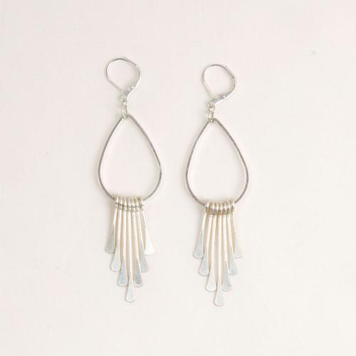 Paddle Pin Fringe Earring