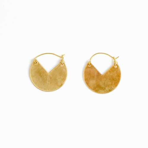 Cut Out Disc Earring
