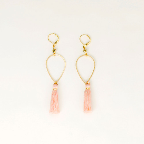 Tassel Drop Earring in Brass