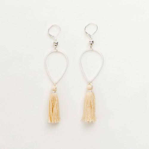 Tassel Drop Earring in Silver