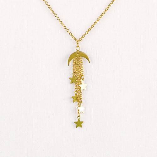 Moon & Stars Dangle Necklace