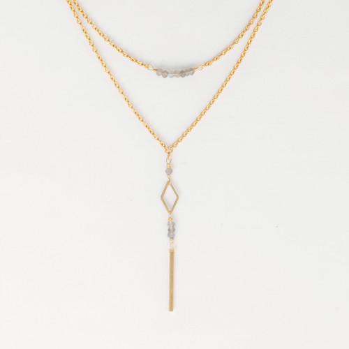 Labradorite lariat fair trade necklace