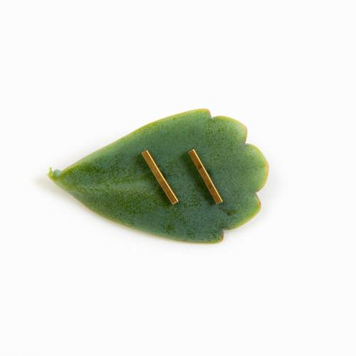 Tiny Bar Post Earrings