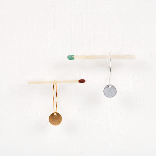 Hoop and Disc Earrings