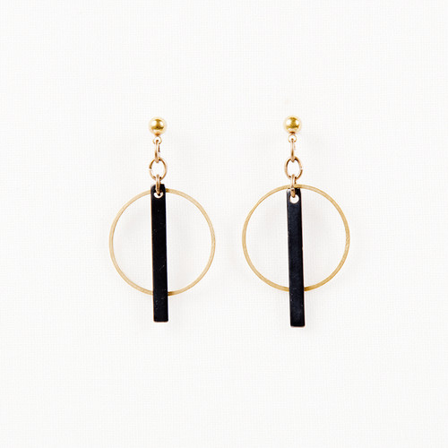 Hoop & Bar Post Earrings