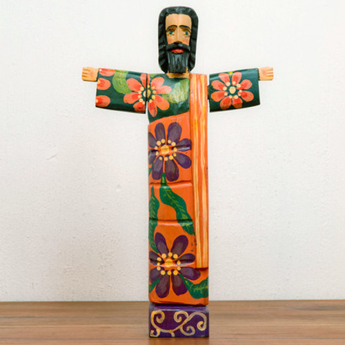 Hand Carved Wooden Jesus