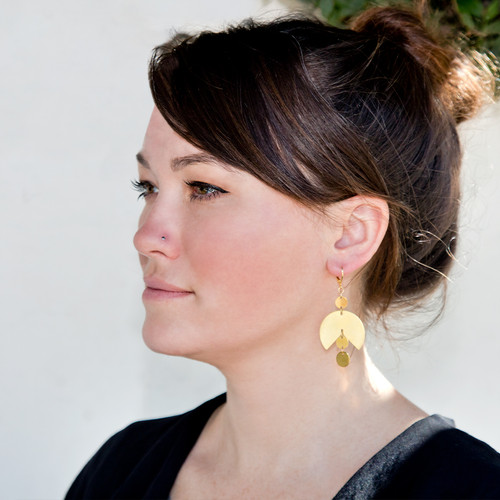 Large Graphic Dangle Earring