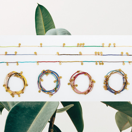 Sun Disc Wrap Necklace & Bracelet