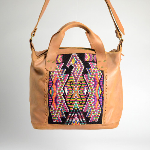 Textile & Leather Day Bag- 2