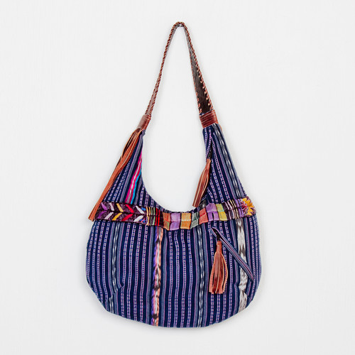 Leather Fringe Embroidered Shoulder Bag