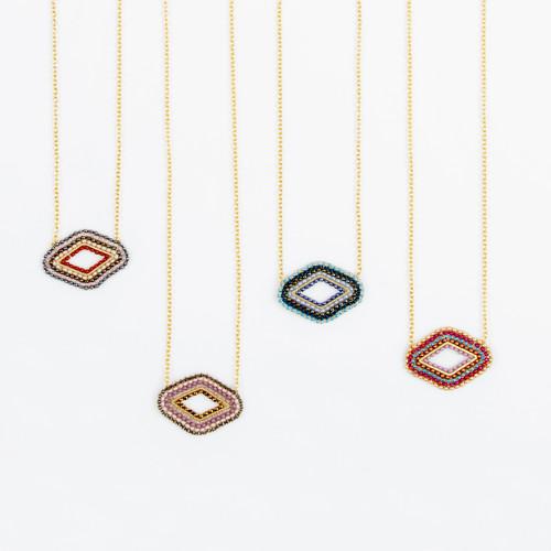 Beaded Diamond Necklace