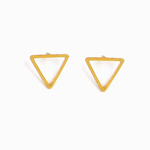 Open Triangle Post Earrings