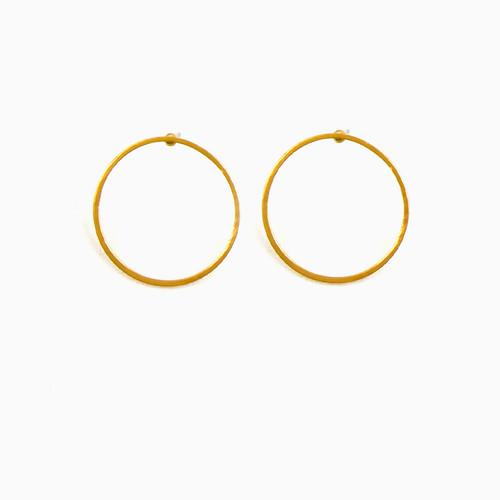 Open Circle Post Earrings
