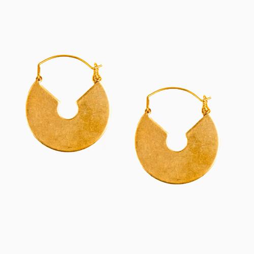 Key Hole Hoop Earrings