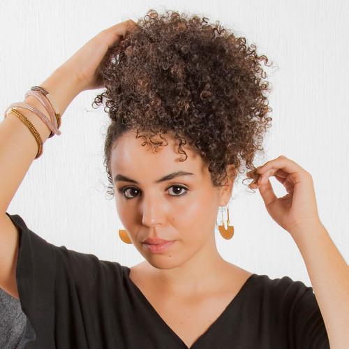 Half Circle Long Hoop Earrings