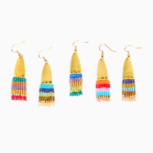Half Ellipse Small Fringe Earrings