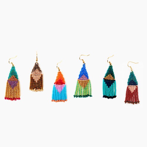 Small Graphic Fringe Earrings