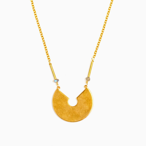 Labradorite Keyhole Necklace