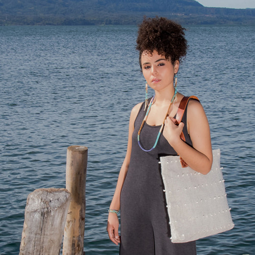 Handwoven Textured Tote