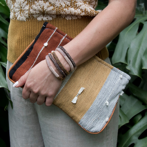 Earth Tone Textured Clutch