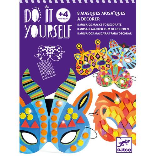 DIY Jungle Animals Mosaic Masks