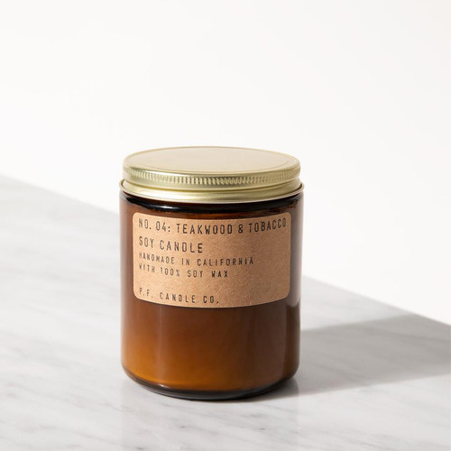 P.F. Candle Co. Teakwood and Tobacco Candle