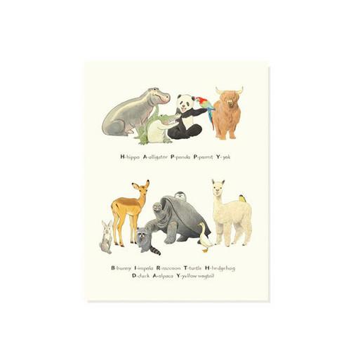 Birthday Zoo Card