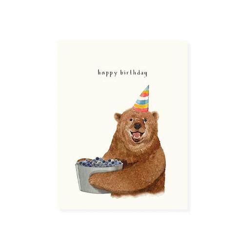 Berry Bear Birthday Card