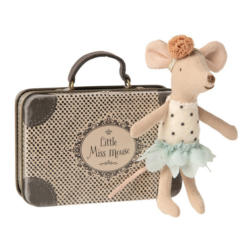 Maileg Little Miss Mouse in a Suitcase