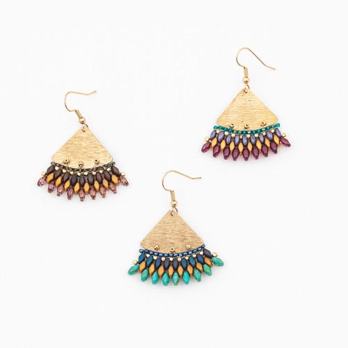 Duo Fan Earrings