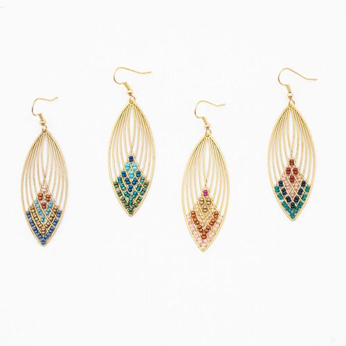 Swooping Oval Earrings