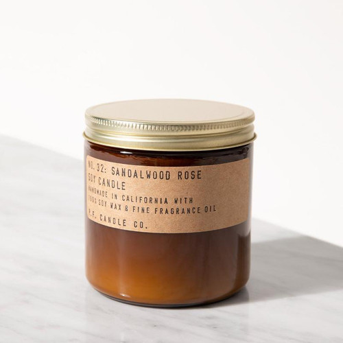 P.F. Candle Co. Large Sandalwood Rose Candle