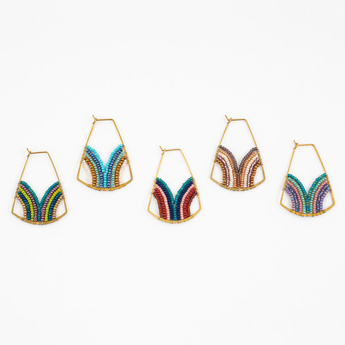 Wellspring Beaded Hoop Earrings